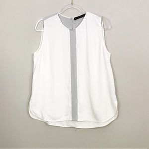 Zara | White Sleeveless Blouse sz XL